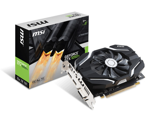 Видеокарта MSI GeForce GTX 1050 Ti 4G OCV1